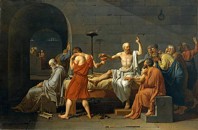 Socrates Painting - The Death Of Socrates by Jacques-Louis David
