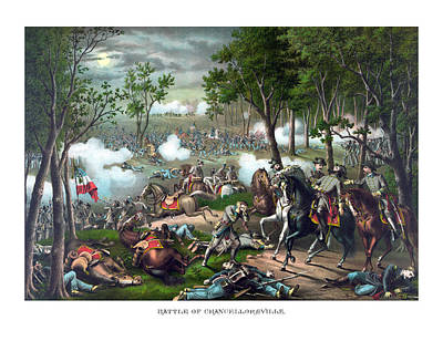 Landmarks Painting Royalty Free Images - The Death Of Stonewall Jackson Royalty-Free Image by War Is Hell Store