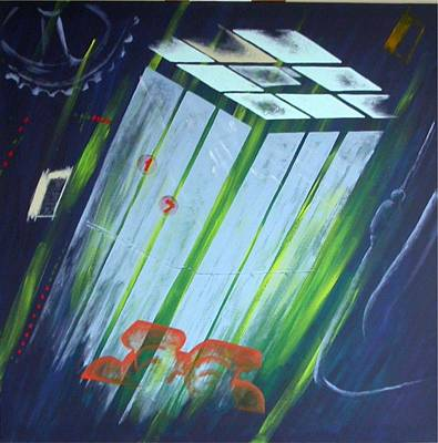 The Death Song Of The Elevator Art Print by Poul Costinsky