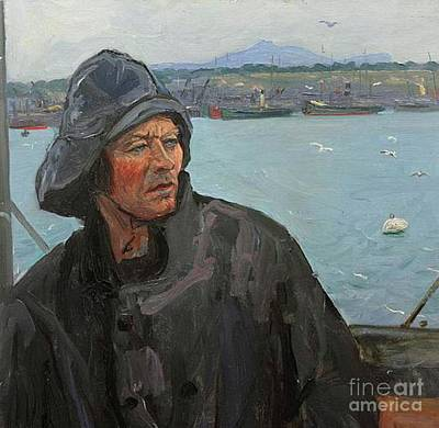 North Sea Painting - The Deck Hand, North Sea by John Lavery