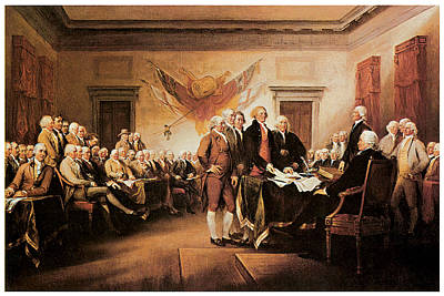 The Declaration Of Independence Art Print by John Trumbull