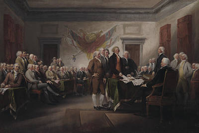 The Declaration Of Independence, July 4, 1776 Art Print by John Trumbull