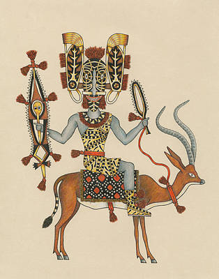 Gazelle Painting - Decorated Rider Of The Gazelle Cavalry by Matt Leines