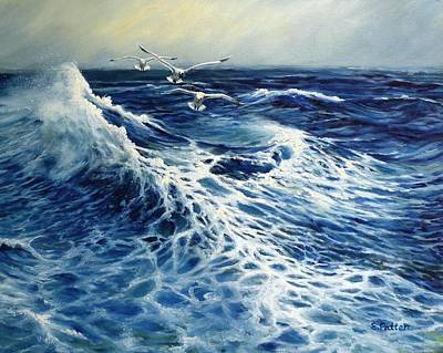 Painting - The Deep Blue Sea by Eileen Patten Oliver