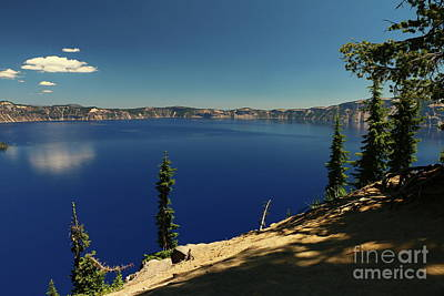 Photograph - The Deep Blue Tones Of The Crater Lake by Christiane Schulze Art And Photography
