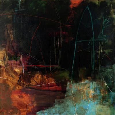 Collage Painting - The Deep End #1 by Jane Davies