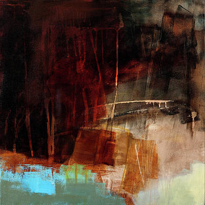 Collage Painting - The Deep End #3 by Jane Davies