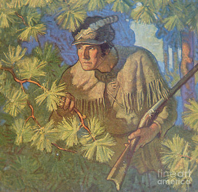 David Drawing - The Deerslayer  by Newell Convers Wyeth