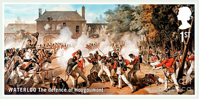 Painting - The Defence Of Hougoumont by Lanjee Chee