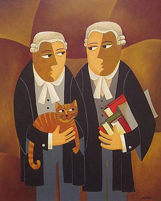 Law Courts Painting - The Defendant by Thomas Andersen