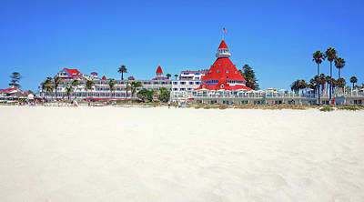 Robert Bellomy Royalty-Free and Rights-Managed Images - The Del Coronado Hotel San Diego California by Robert Bellomy