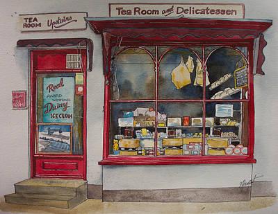 The Deli Tea Room Art Print by Victoria Heryet