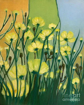Painting - The Delightful Garden by Wonju Hulse