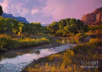 Digital Art - The Delores River At Gate Way Colorado by Annie Gibbons