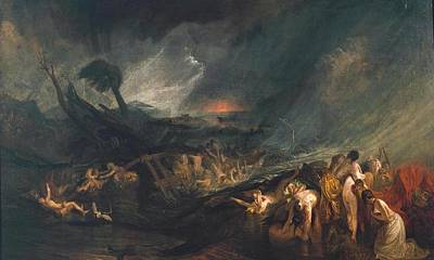 The Deluge Painting - The Deluge by Joseph Mallord