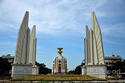 Photograph - The Democracy Monument Commemorating Siamese Revolution Of 1932 Bangkok Thailand by Imran Ahmed