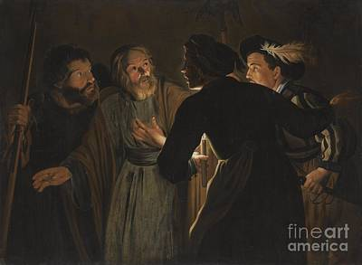 The Followers Painting - The Denial Of Saint Peter by Celestial Images
