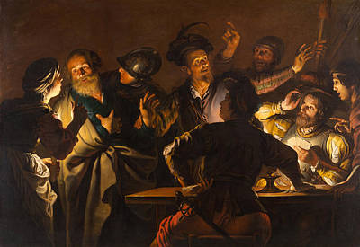 The Denial Of St. Peter Painting - The Denial Of St. Peter by Gerard Seghers