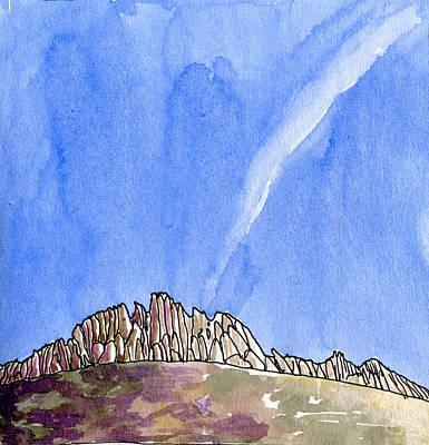 Provence Drawing - The Dentelles De Montmirail by Elizabetha Fox