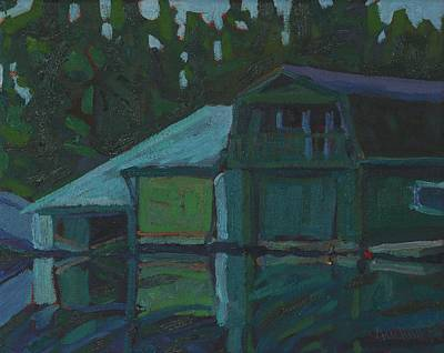 Painting - The Dentist's Honeymoon Cabin by Phil Chadwick