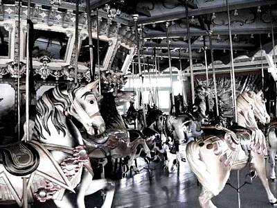 Photograph - The Dentzel Carousel - Glen Echo Park by Fareeha Khawaja