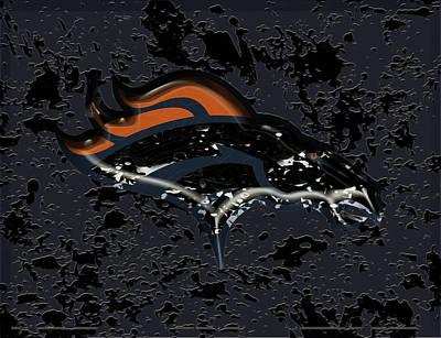 The Denver Broncos 1a Art Print by Brian Reaves
