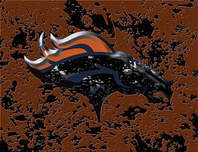 The Denver Broncos 1b Art Print by Brian Reaves