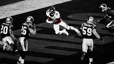 The Denver Broncos Bennie Fowler Print by Brian Reaves