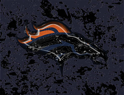 The Denver Broncos  Art Print by Brian Reaves