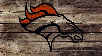 The Denver Broncos W1 Art Print by Brian Reaves