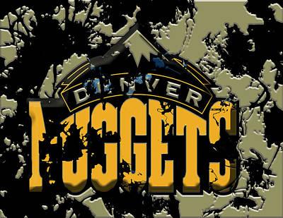 The Denver Nuggets 1b Art Print by Brian Reaves