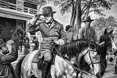 Civil War Generals Mixed Media - The Departure by Dennis Baswell