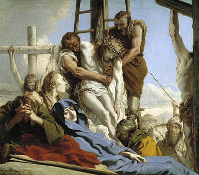 Painting - The Deposition by Giovanni Domenico Tiepolo