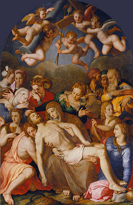 Painting - The Deposition Of Christ by Bronzino
