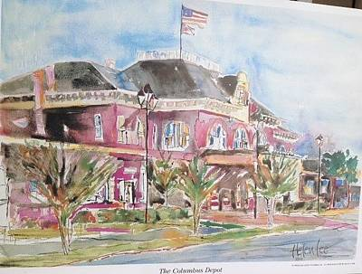 Painting - The Columbus Depot by Helen Lee