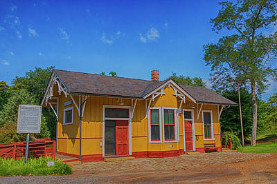 Wall Art - Photograph - The Depot Of Stapleton by Cliff Middlebrook