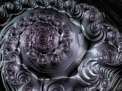 Digital Art - The Depth Of A Spiral Eye by Paisley O'Farrell