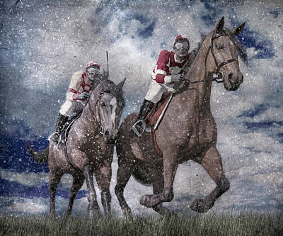 Athletes Royalty-Free and Rights-Managed Images - The Derby by Betsy Knapp
