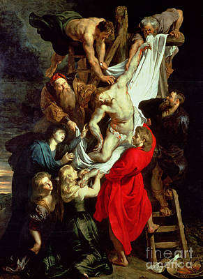 Triptych Painting - The Descent From The Cross by Peter Paul Rubens