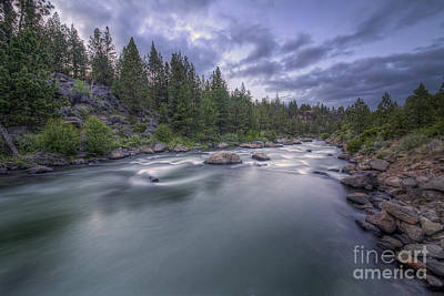 Deschutes River Photograph - The Deschutes River At Dusk by Twenty Two North Photography