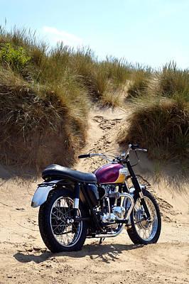 Motorcycle Photograph - The Desert Racer by Mark Rogan