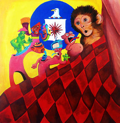 Cia Painting - The Desire And The Experiment by Jasleni Brito