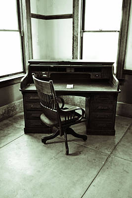 Photograph - The Desk by Holly Blunkall