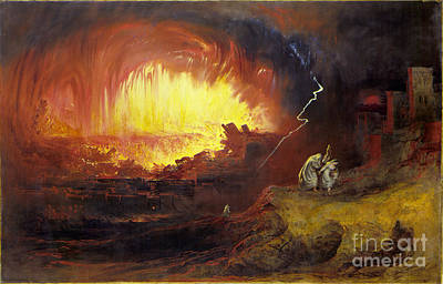 Fairy Painting - The Destruction Of Sodom And Gomorrah by MotionAge Designs