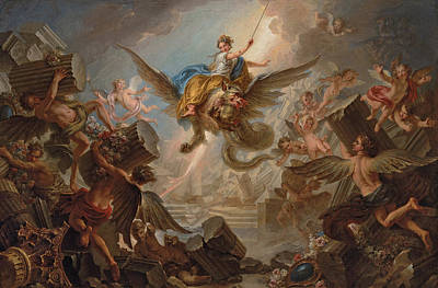 Destruction Painting - The Destruction Of The Palace Of Armida by Charles Antoine Coypel