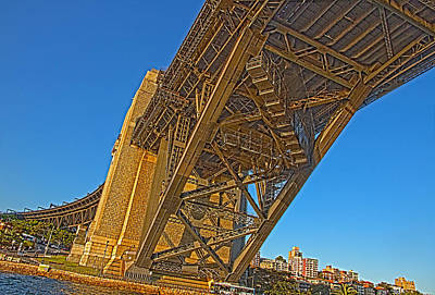 Photograph - The Detail Structure Under The Harbour Bridge by Miroslava Jurcik