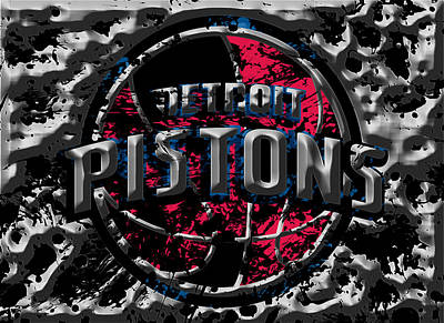 The Detroit Pistons 1a Art Print by Brian Reaves