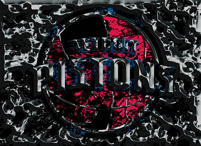 The Detroit Pistons Art Print by Brian Reaves