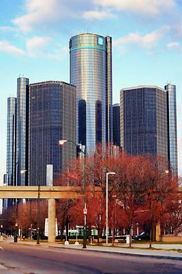 Photograph - The Detroit Renaissance Center by Gordon Dean II
