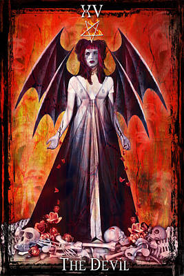 Digital Art - The Devil by Tammy Wetzel